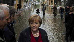 German Chancellor Angela Merkel in Pirna on 4 June 2013
