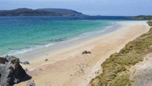 View from a beach of Cape Wrath