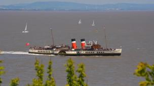 The Waverley leaving Penarth