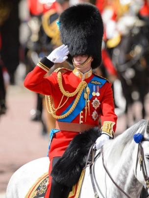 Prince William at Trooping the Colour