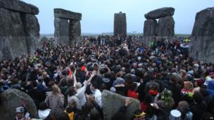 Police estimated 21,000 people had gathered at Stonehenge for the Summer Solstice