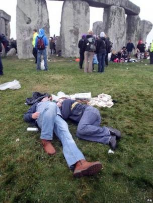 Some people had camped out at the ancient monument overnight
