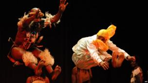 Dancers perform at the Festival Rabat Africa in Rabat, Morocco - Wednesday 19 June 2013