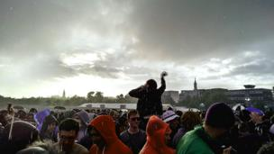 Crowd at Stone Roses gig in Glasgow