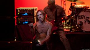 Iggy Pop of Iggy and The Stooges performs on stage at Meltdown Festival 2013 at the Royal Festival Hall