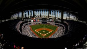 New York Yankees pitches against Tampa Bay Rays