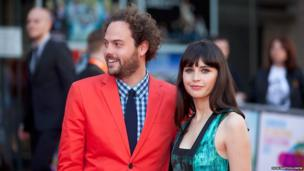 Director Drake Doremus and actress Felicity Jones at the Edinburgh International Film Festival's opening gala, Breathe In.