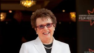 Former tennis superstar Billie Jean King was in Edinburgh to talk about Battle of the Sexes, which recalls her controversial match against male player Bobby Riggs in the 1970s