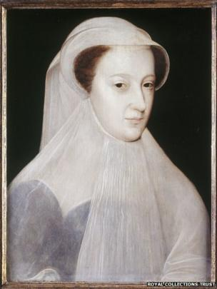 Mary, Queen of Scots - en deuil blanc By François Clouet, French, c 1559-61