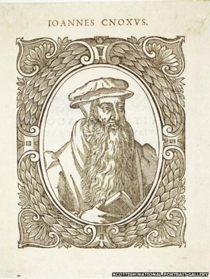 John Knox, 1505 - 1572.Wood engraving on paper. Unknown artist, after Adrian Vanson, 1580