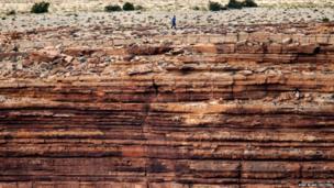 Nik Wallenda over the Little Colorado River Gorge near the Grand Canyon