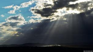 Sunrays illuminate Qunu, the village where former South African President Nelson Mandela grew up