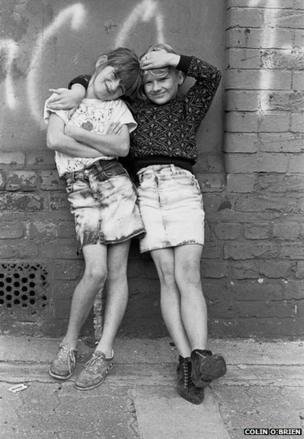 Travellers' Children in London Fields, 1987