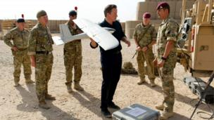 Prime Minister David Cameron in Afghanistan