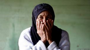 An elderly woman in Blang Mancung, Aceh province, Indonesia, 4 July 2013