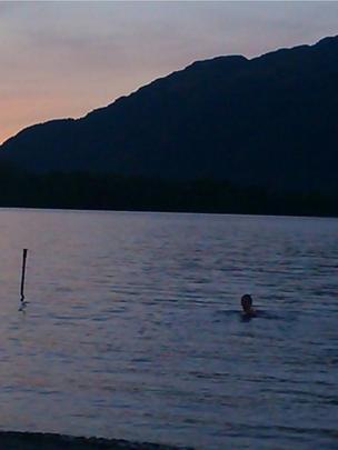 Swimmer in Loch Lomond