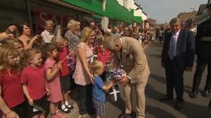 Prince Charles in Bude