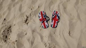 Union jack flip-flops
