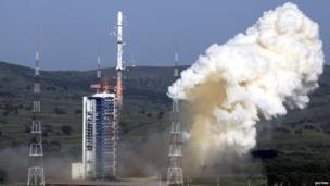 Rocket blast-off in China