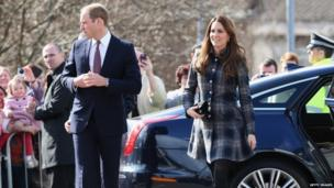 The Duke and Duchess of Cambridge on 4 April 2013 in Glasgow