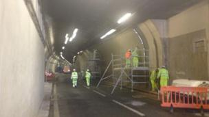 Inside one of the tunnels as work begins fully