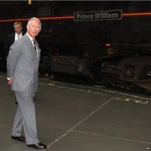 Prince of Wales at the National Railway Museum in York