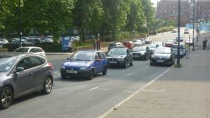 Holliday Street traffic