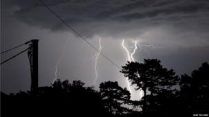 Storms hit the East Midlands