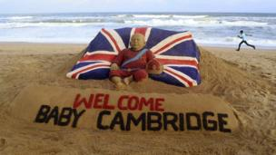 Sandcastle for royal baby
