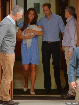 Kate and William emerge from the hospital