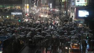 Pedestrians in Tokyo