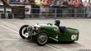 Kurt Kaufmann drives his 1930 Morgan Three Wheeler