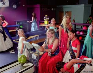 Corby carnival queens go bowling