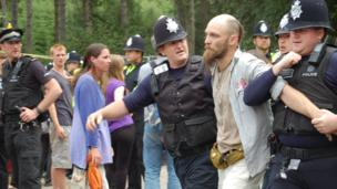 Man being arrested