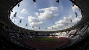 The Olympic Stadium filling up