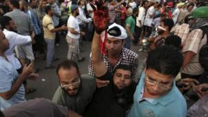 Violence at protest in Cairo, 27 July 2013