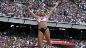 Jessica Ennis-Hill in the long jump