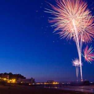Fireworks over Penarth Pier