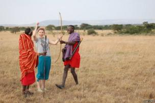 Woman with Masai