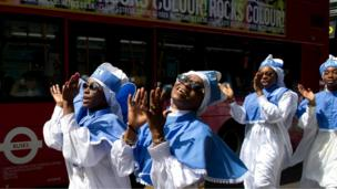 Worshippers in London on 28 July 2013.