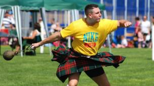 Competitor at Airth Highland Games