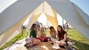 Camp Bestival campers