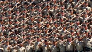 US Marines salute