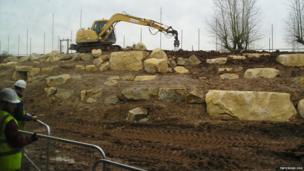 Crane digging the Himalaya enclosure