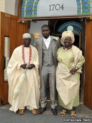 Royal wedding  Nigerian prince marries in Loughgall village   BBC News BBC
