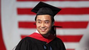 Bo Guagua, son of fallen Chinese politician Bo Xilai, at Harvard University in Cambridge, Massachusetts in this 24 May 2012 file photograph