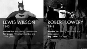 Lewis Wilson and Robert Lowery as Batman