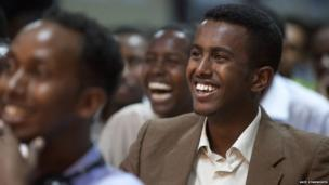 The audience during a talk by Italian Professor Georgio Banti about the evolution and modernisation of the Somali language - Hargeisa, Somaliland
