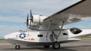Catalina seaplane in Newquay