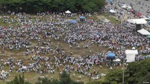 Protest in Luneta park in Metro Manila